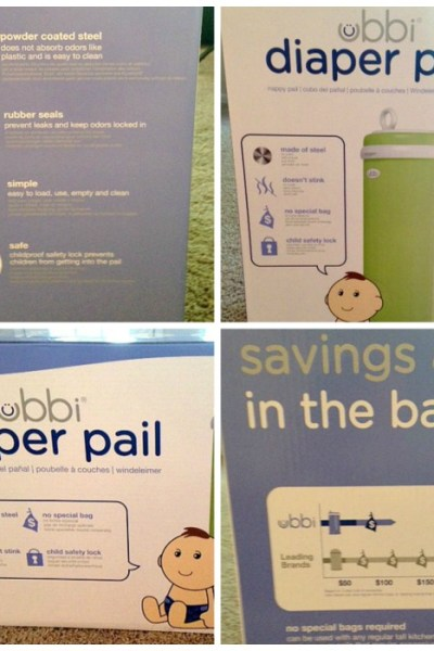 Ubbi Diaper Pail Review- Keeping the House Smelling Nice