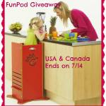 FunPod Giveaway-A safer alternative for kiddos helping in the kitchen!