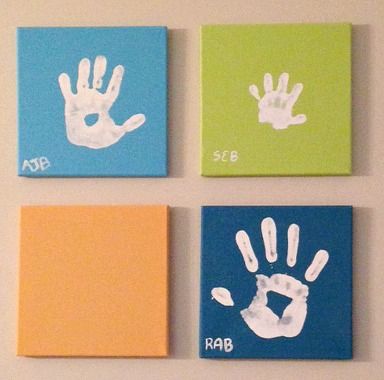 Pearhead Handprint Canvas Set Review and Giveaway