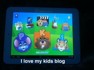Little Scholar Tablet  home screen