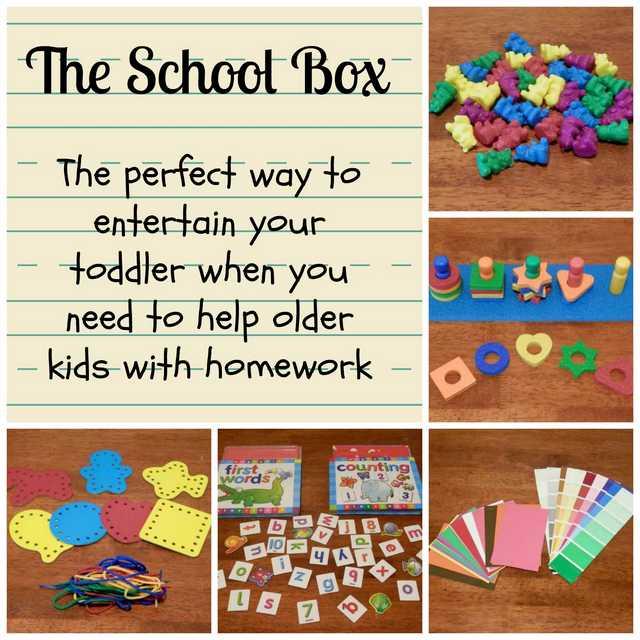 school box collage