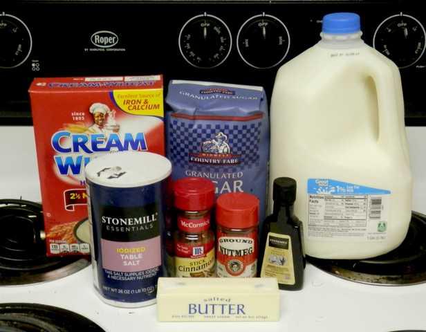 Cream of wheat ingredients
