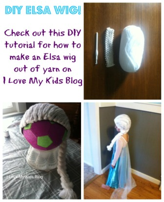 homemade Elsa wig out of yarn small