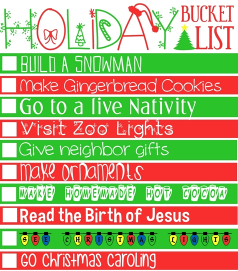 Holiday bucket list.written.reszied
