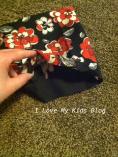 DIY microwaveable flax bag 8