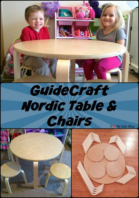 GuideCraft Nordic Table and Chairs set