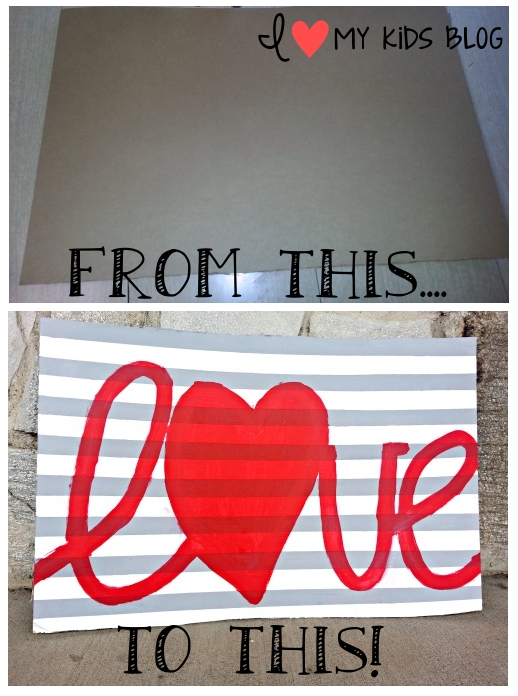 Love-sign-cardboard-transformation before and after photos