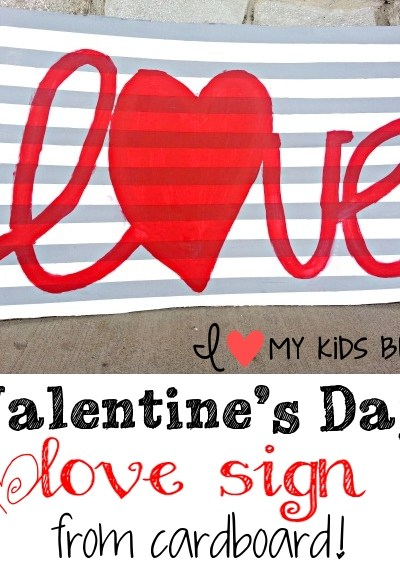"""""""Wow"""" your guests with this DIY Valentines Day LOVE sign from cardboard!"""