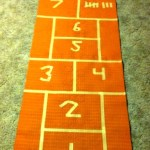 How to Make a DIY Indoor Hopscotch Mat in minutes out of a Yoga Mat!