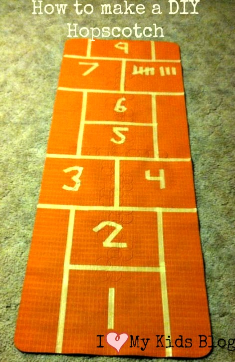 how to make a diy hopscotch