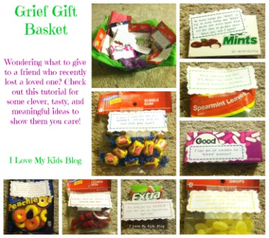 How to make a DIY Grief Gift basket
