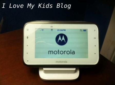 Motorolla video baby monitor MBP854 powered on