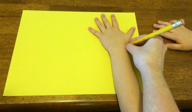 tracing hand