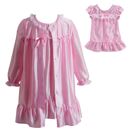 dollie and me pink nightgown and robe