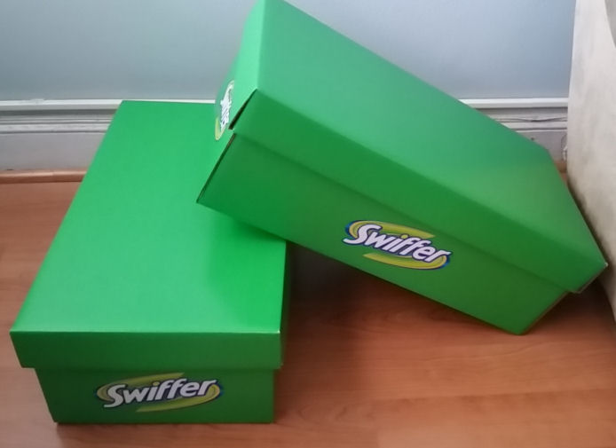 2 big green boxes from Swiffer
