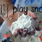 DIY Play Snow- Perfect for hot summer days!