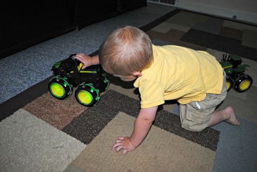 John Deere happy boy playing