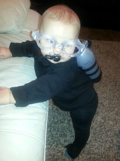 baby boy scuba diver costume goggles