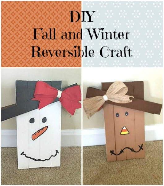 DIY Fall and Winter Reversible Craft