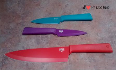 Kuhn Rikon Colori knife no covers on