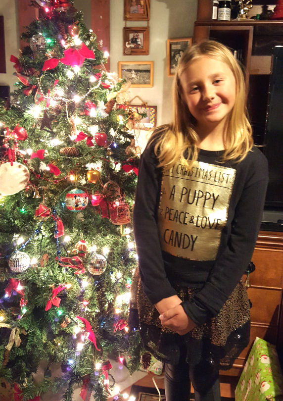 justice shirt Christmas list a puppy, peace and love, candy