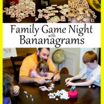Family fun and game night with Bananagrams