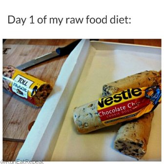 day 1 of raw food