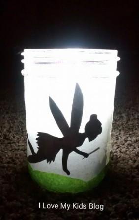 Fairy jar glowing
