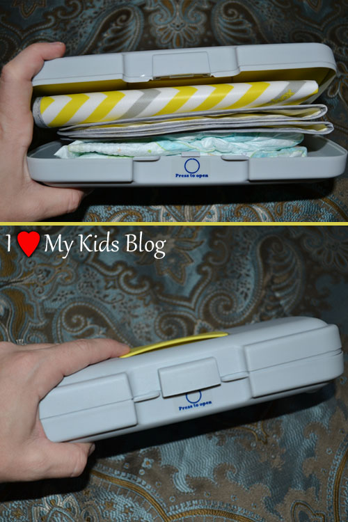bbox Diaper Wallet loaded with Two Diapers and Changing Pad