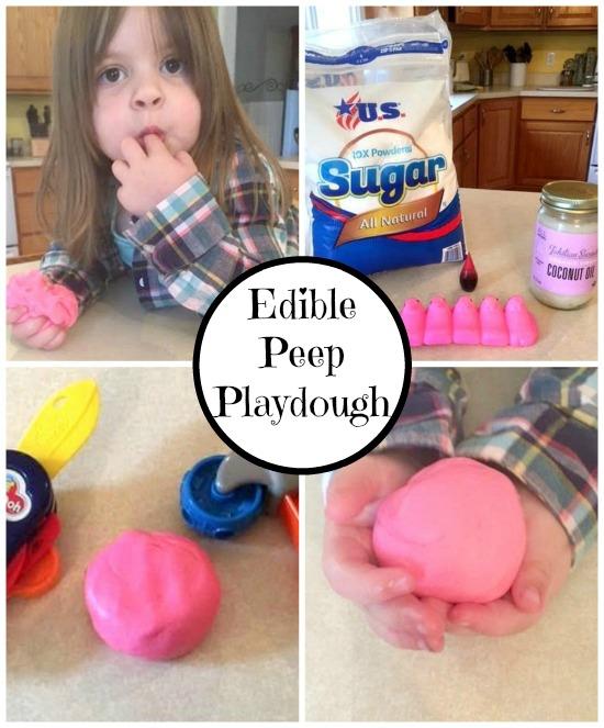 Edible Peep Playdough Collage
