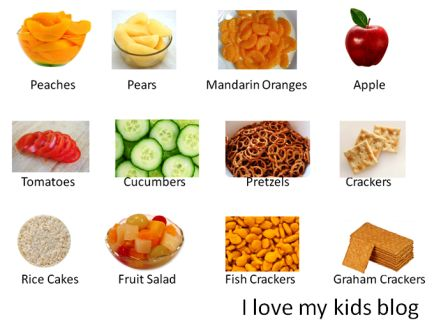Bedtime Routine food choices