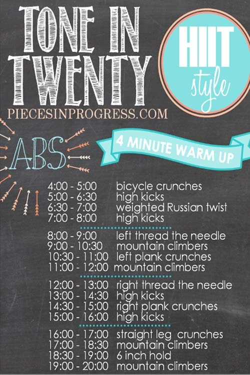 Tone in 20 Abs