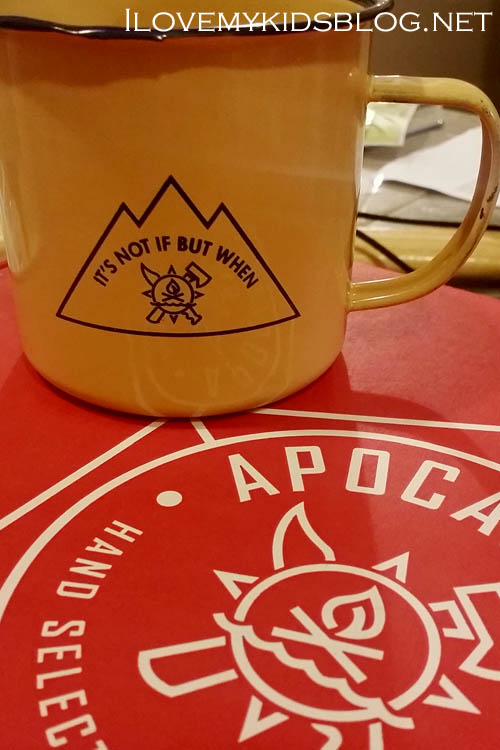 Apocabox December 2016 Metal Enamel Coffee Mug