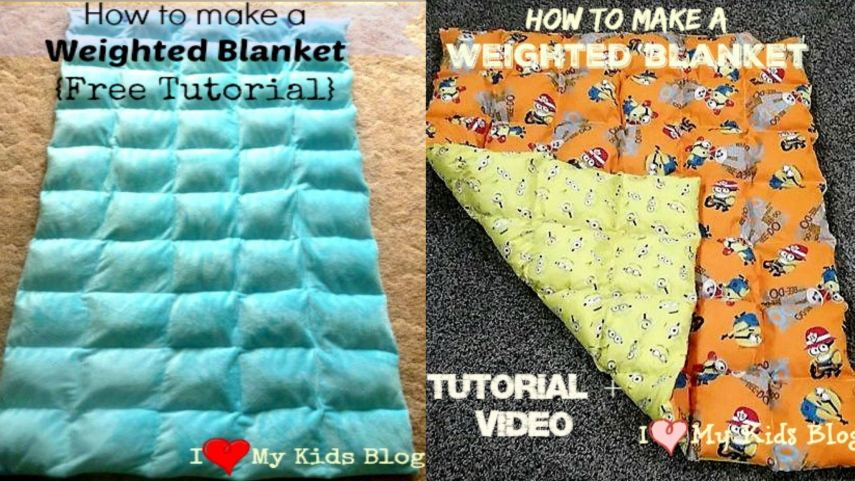 How to make a DIY Weighted Blanket tutorial+ Video
