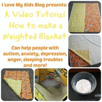 Weighted blanket tutorial button