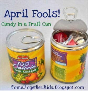 April Fools Day canned candy
