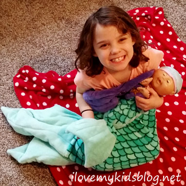 Fin Fun Bikini Blanket for Dolls plus the Bikini Cuddle Tail make the perfect duo