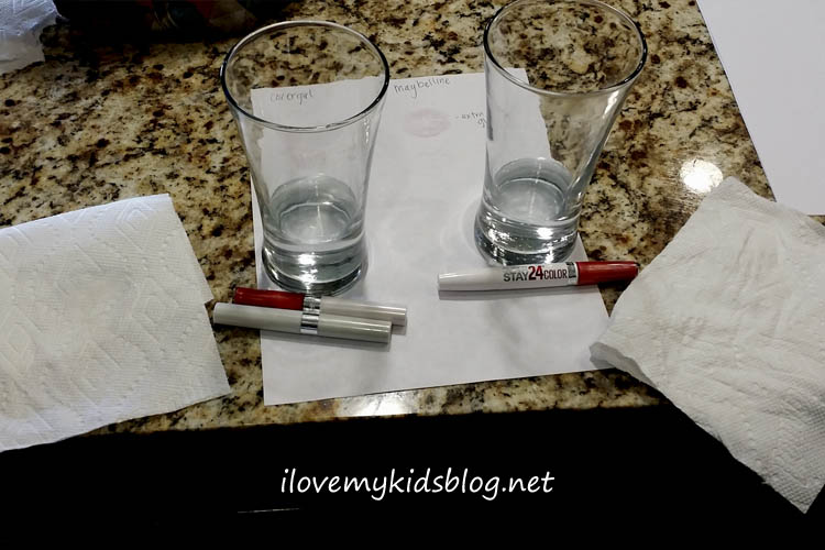 Maybelline and Covergirl Lip Color Drink and Wetness Test