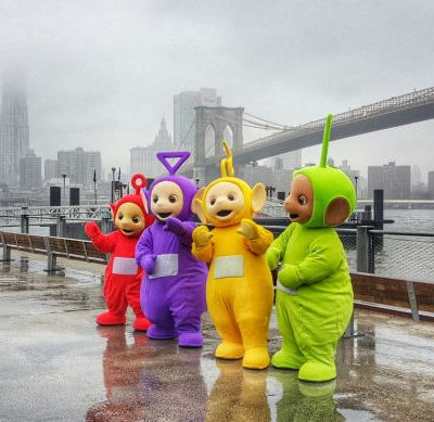 Teletubbies in New York City to celebrate their 20th Anniversary #Teletubbies20
