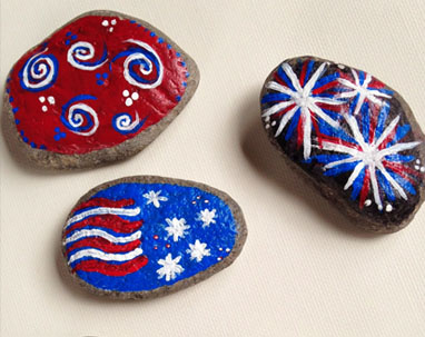 4th Of July Craft Ideas Rock Painting I Love My Kids Blog