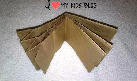 Paper bag craft journal fold in middle