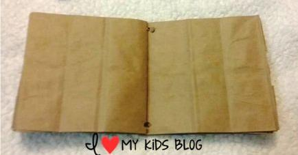 Paper bag craft journal pages