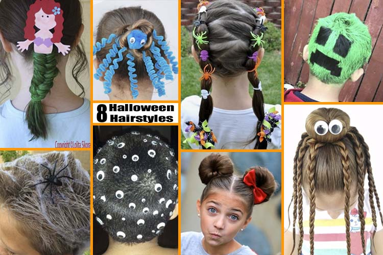 8 Fun and Unique Halloween Hairstyles for kids
