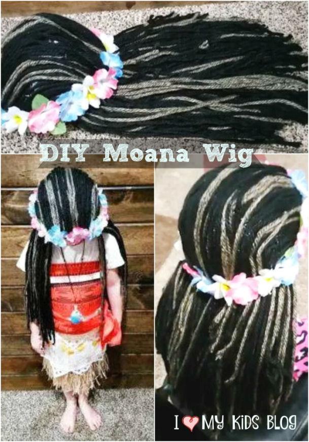 DIY Moana Wig Tutorial