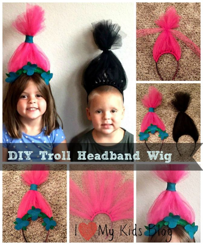 DIY Troll Wig Headband