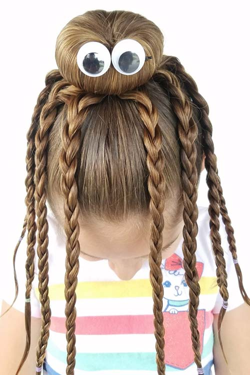 Halloween Hairstyle Octopus Braids