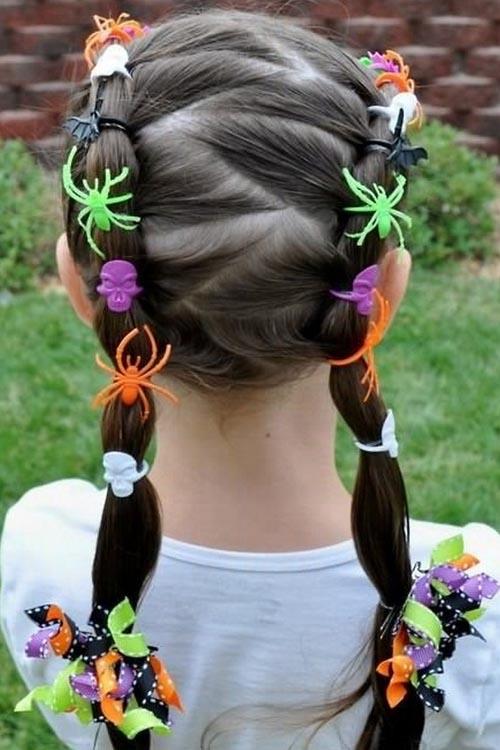 Halloween Hairstyle Spider Braids
