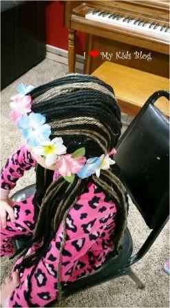 how to make a Moana wig