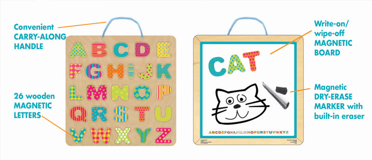 2017 Pre-K Holiday Gift Guide ABC Magnetic Puzzle and White Board