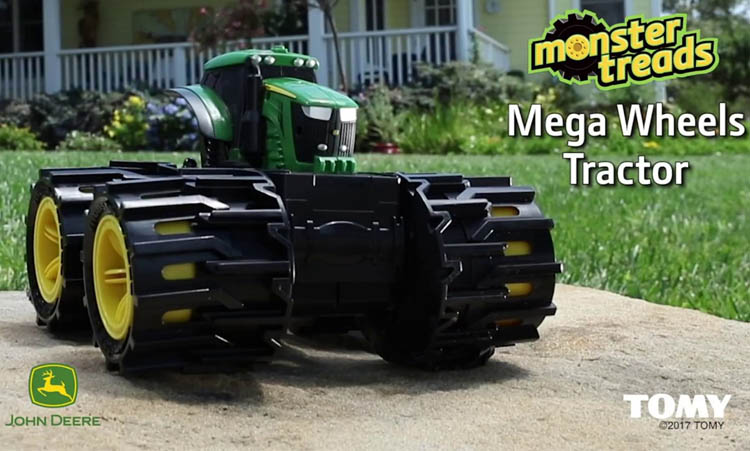 2017 Pre-K Holiday Gift Guide John Deere Mega Wheel Tractor